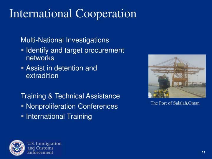 Multi-National Investigations