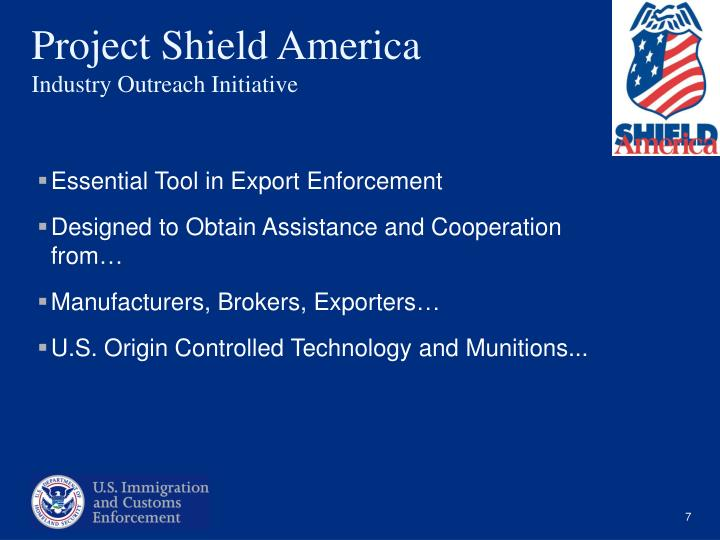 Essential Tool in Export Enforcement