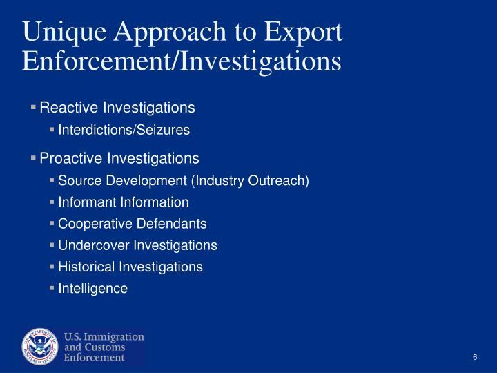 Reactive Investigations