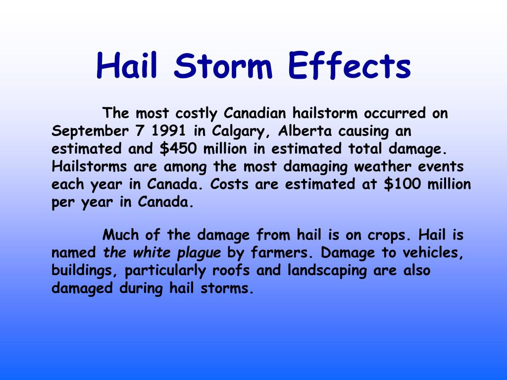Hail Storm Effects