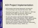 adi project implementation
