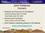 joint initiatives contacts