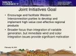 joint initiatives goal