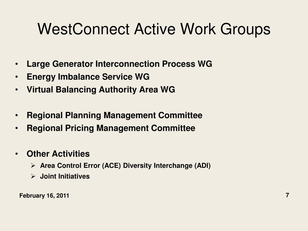 WestConnect Active Work Groups