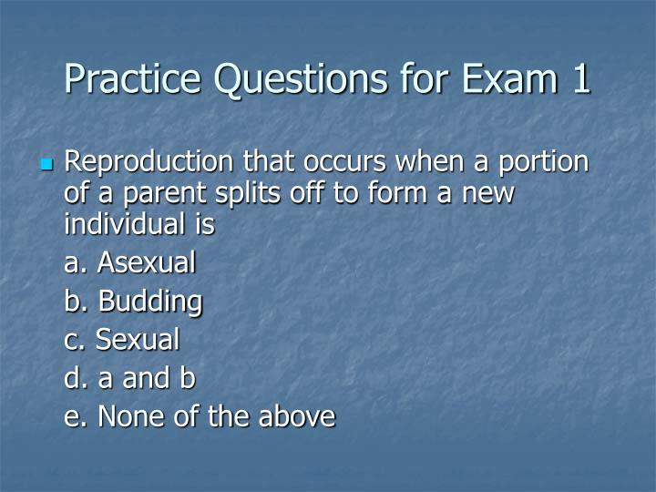 practice questions for exam 1 n.