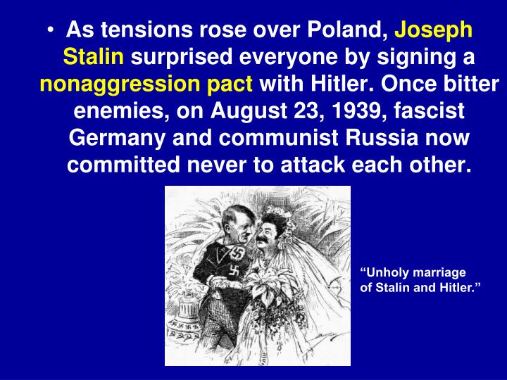 As tensions rose over Poland,