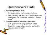 questionnaire hints2