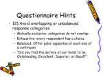 questionnaire hints8