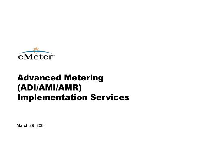 advanced metering adi ami amr implementation services n.