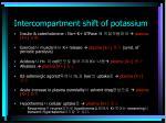 intercompartment shift of potassium1