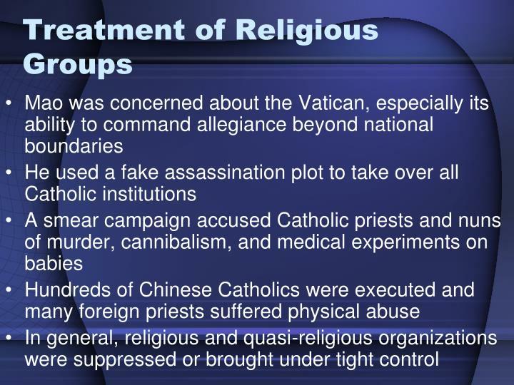Treatment of Religious Groups