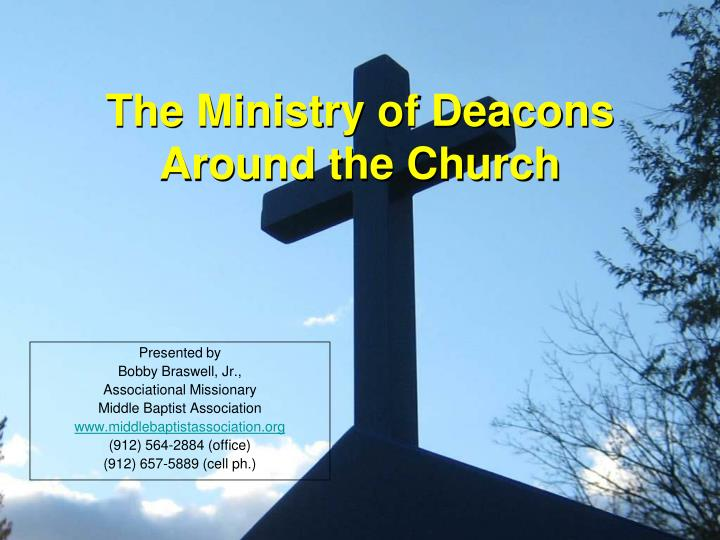 the ministry of deacons around the church n.