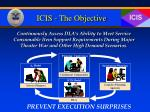 icis the objective