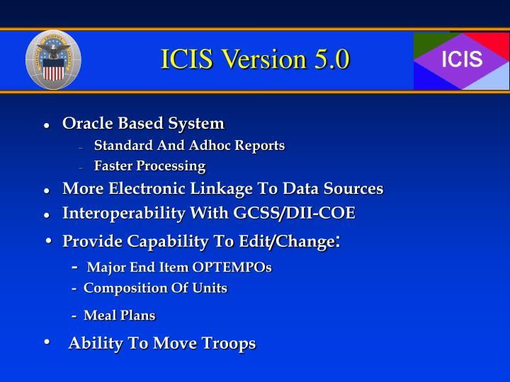ICIS Version 5.0