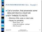 function procedure call example 5