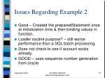issues regarding example 2