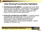 data sharing functionality highlights