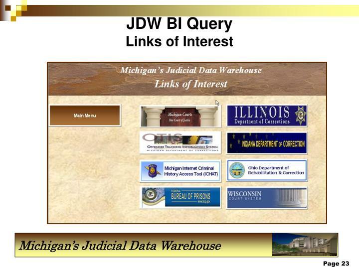 JDW BI Query