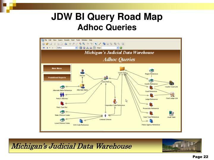 JDW BI Query Road Map