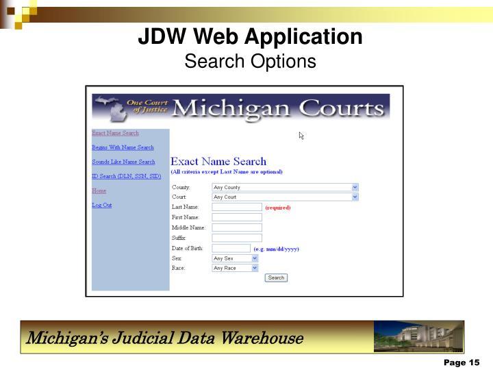JDW Web Application