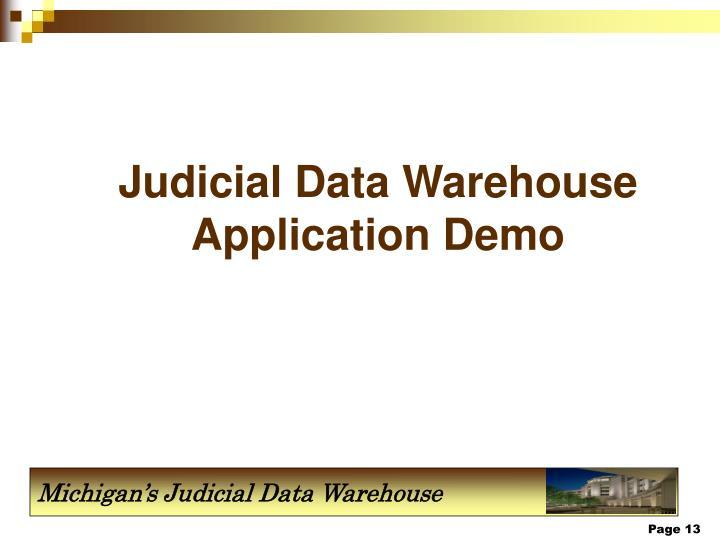 Judicial Data Warehouse