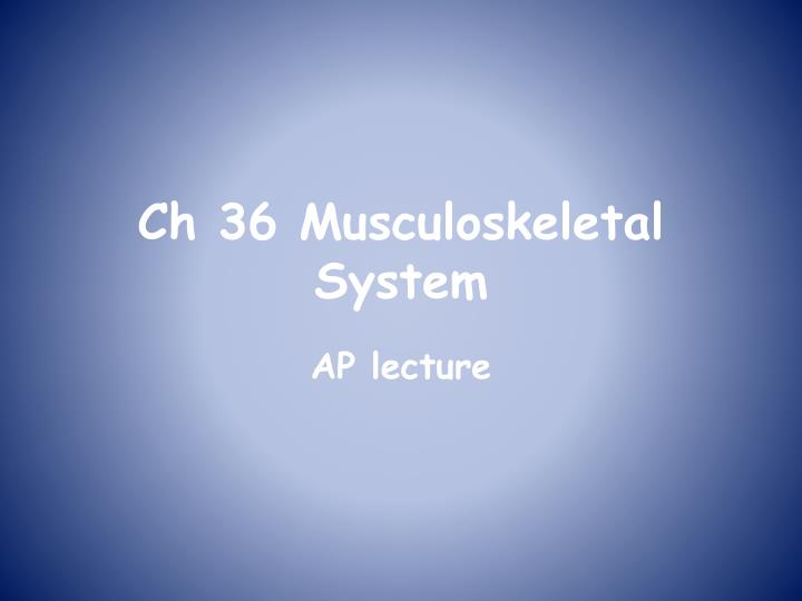ch 36 musculoskeletal system n.