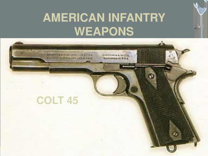 AMERICAN INFANTRY WEAPONS