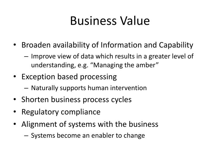 Business Value