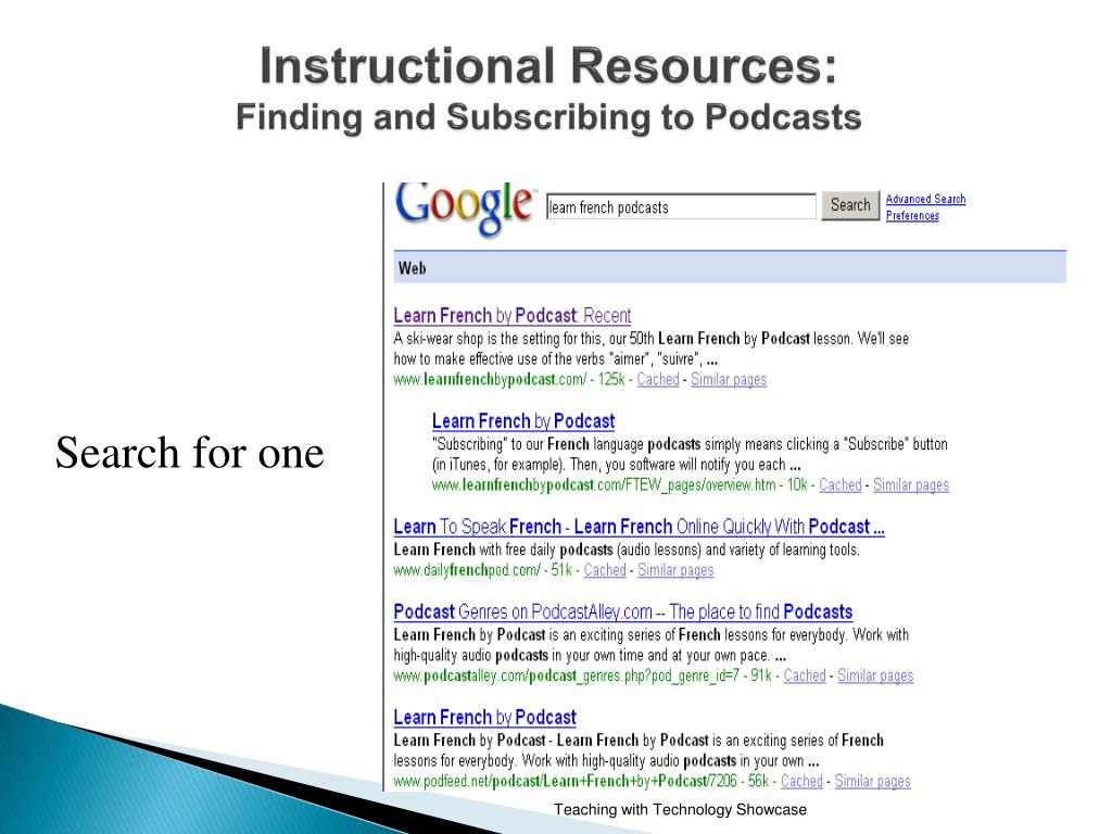 PPT - Podcasts: A New Way of Delivering Learning and