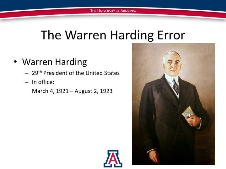 warren harding error