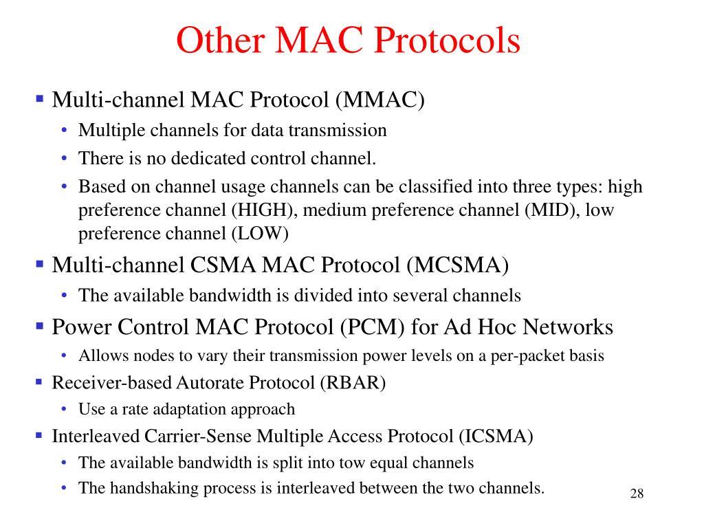 Other MAC Protocols