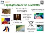 highlights from the newsletter