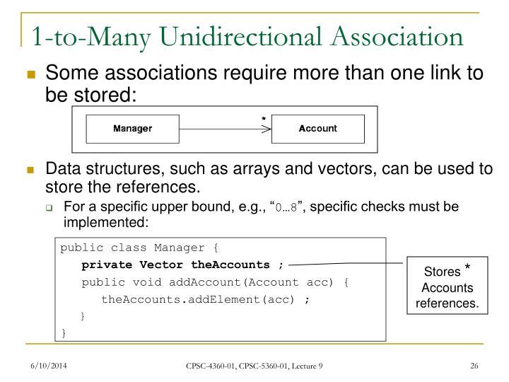 1-to-Many Unidirectional Association
