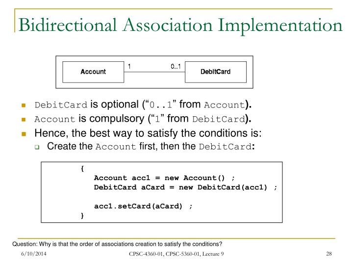 Bidirectional Association Implementation