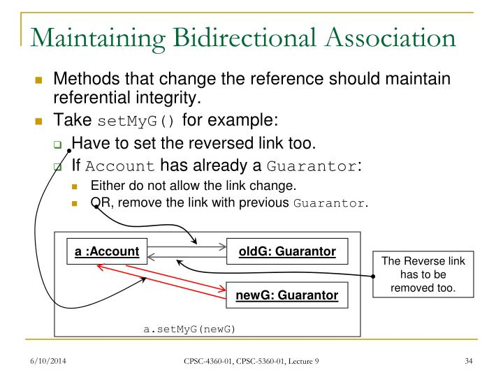 Maintaining Bidirectional Association