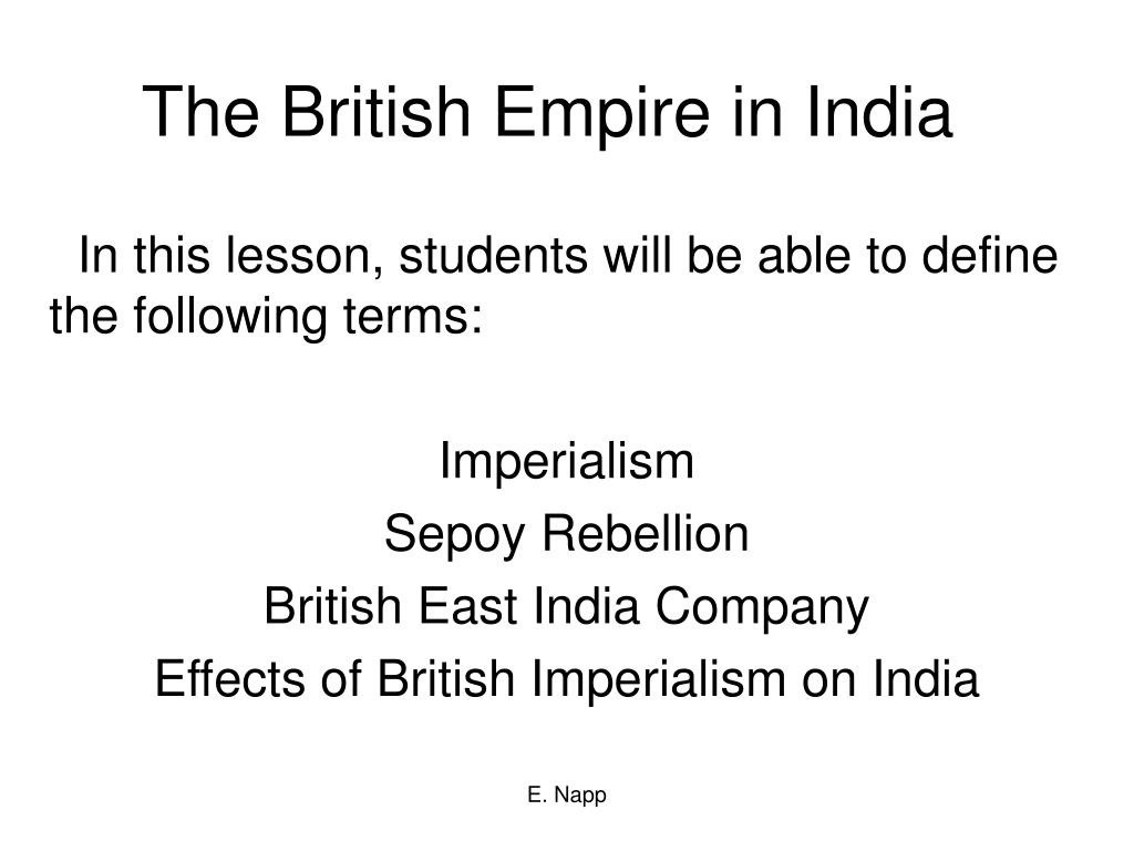 effects of british imperialism in india
