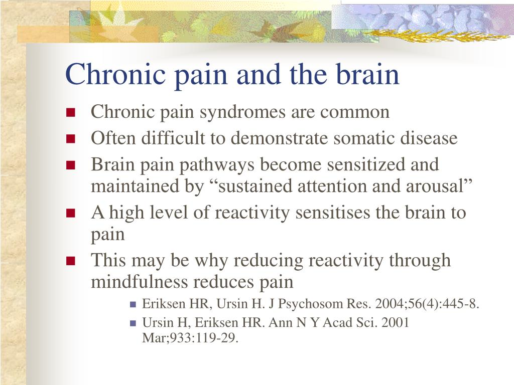 Chronic pain and the brain