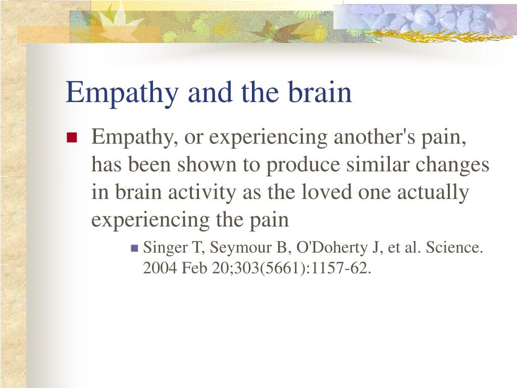 Empathy and the brain