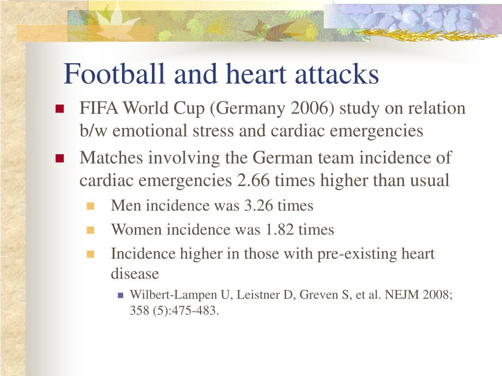 Football and heart attacks