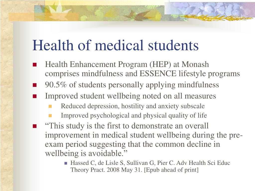 Health of medical students