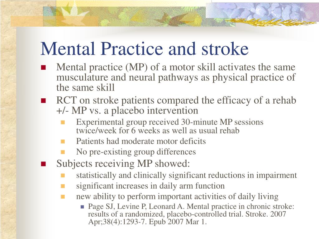 Mental Practice and stroke