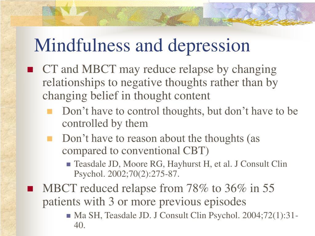 Mindfulness and depression