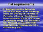 fat requirements