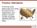 practice attendance