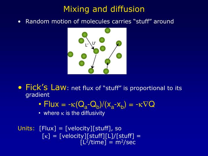 Mixing and diffusion