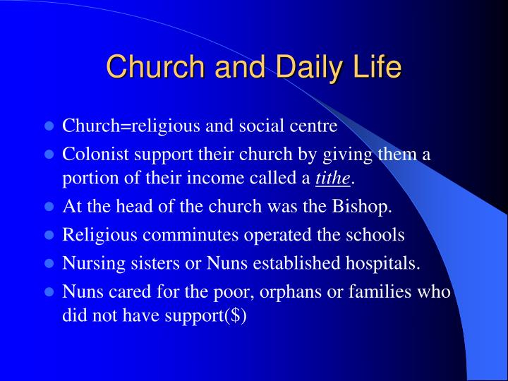Church and Daily Life