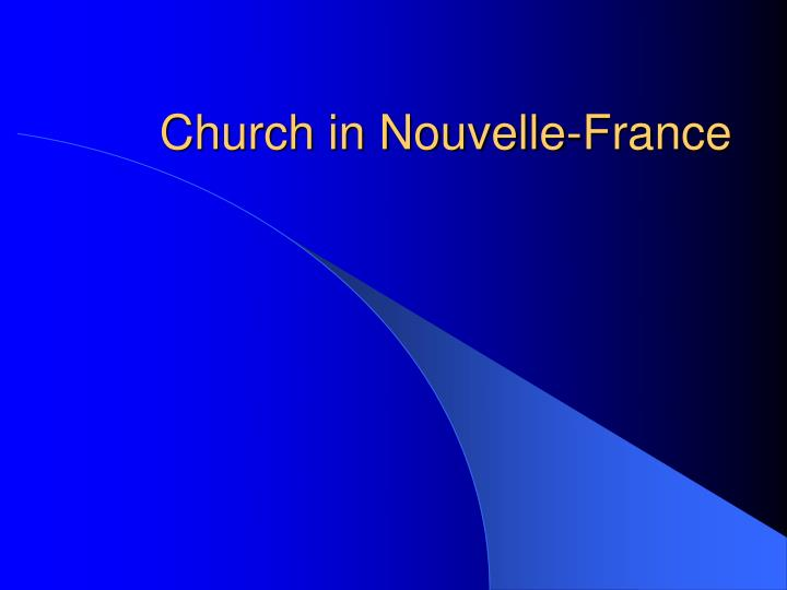 Church in Nouvelle-France