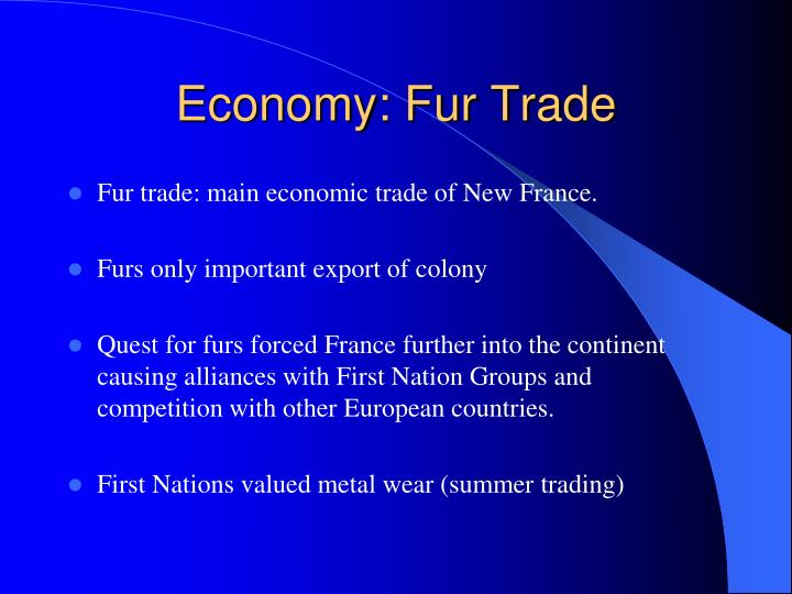 Economy: Fur Trade