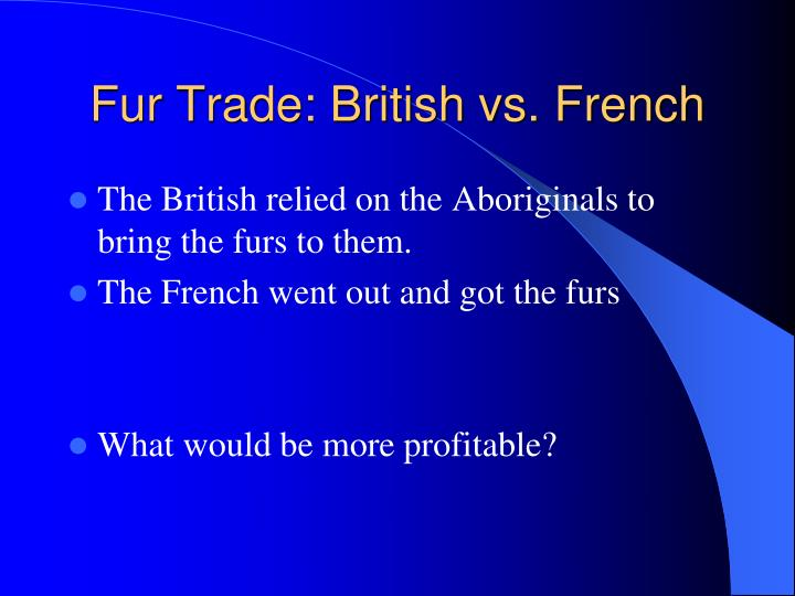 Fur Trade: British vs. French