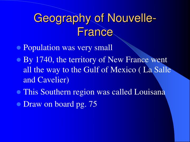 Geography of Nouvelle-France